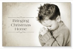 Bringing Christmas Home Postcard