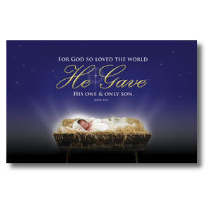 John 3:16 Christmas Postcards