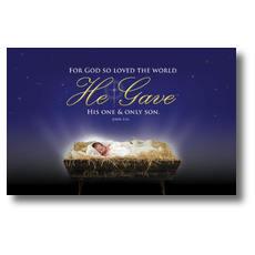 John 3:16 Christmas Postcard