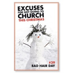 Excuses Bad Hair Postcard