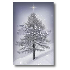 Simple Christmas Postcard