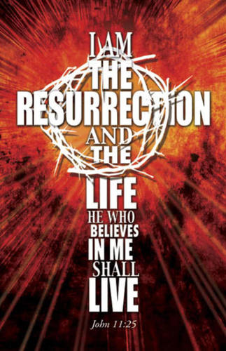 Church Postcards, Scripture, I Am the Resurrection, 5.5 X 8.5