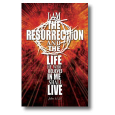 I am the Resurrection Postcard