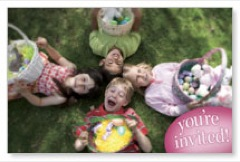 Easter Kids Invited Postcard