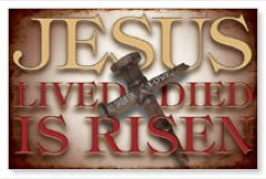Jesus is Risen Postcard