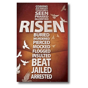Risen Cross Postcards