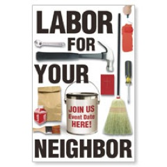 Labor for Your Neighbor Postcard