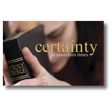 Certainty Postcard
