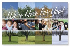Were Here for You Postcards