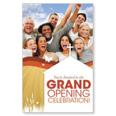Grand Opening People Postcard