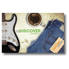 ReDiscover Church Coffee Postcard