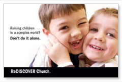 ReDiscover Church Children Postcard