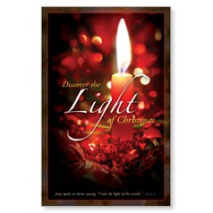Discover Christmas Light Postcard