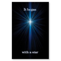 It Began With A Star Postcard