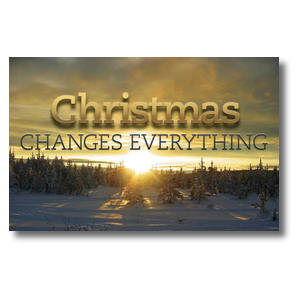 Christmas Changes Everything Postcards