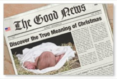 Christmas Good News Postcard