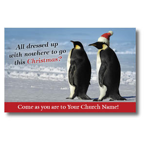 Christmas Penguins Postcards