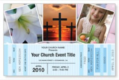 Easter Ticket Postcard