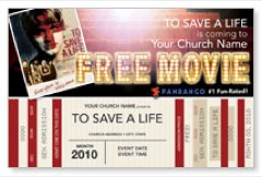 To Save a Life Movie Ticket Postcard