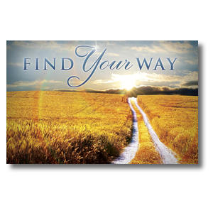 Find Your Way Field Postcards