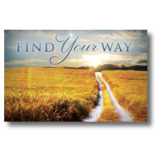Find Your Way Field Postcard