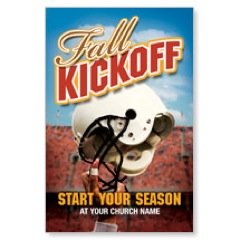Fall Kick off Helmet Postcard