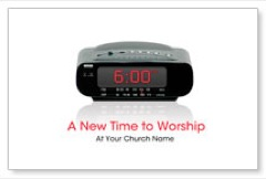 New Time to Worship Postcard
