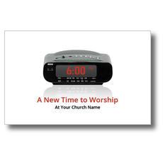 New Time to Worship Postcard