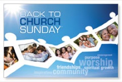 Back to Church Community Postcard