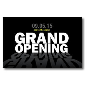 Grand Opening Black Postcards