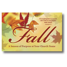 Season Purpose Fall Postcard