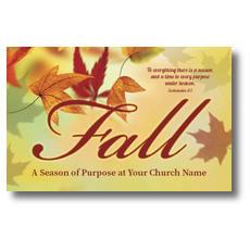 Season Purpose Fall Postcard