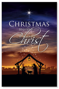 Christmas Begins Christ ImpactCards