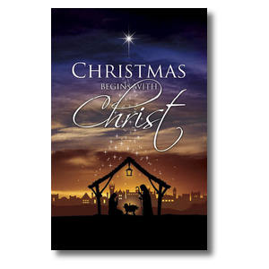 Christmas Begins Christ Postcards