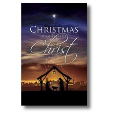 Christmas Begins Christ Postcard