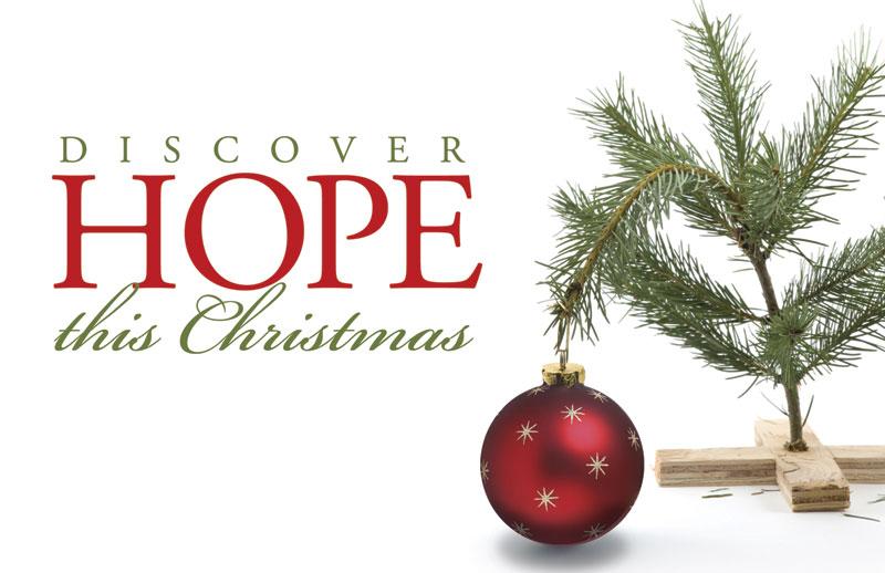 Hope Christmas Tree Postcard - Church Postcards - Outreach Marketing