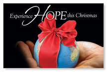 Christmas Hope Globe Postcard