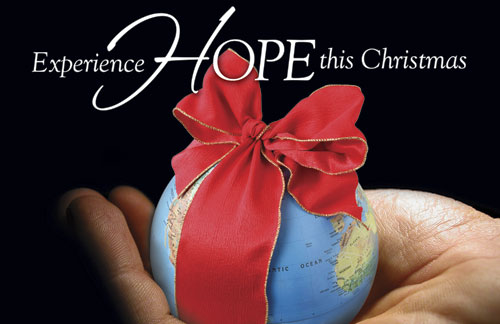 Christmas Hope Globe Postcard Church Postcards