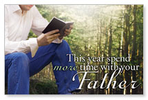 Time With Father Postcard