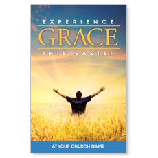 Experience Easter Field Grace Postcard