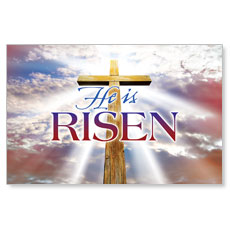 Rugged Risen Cross Postcard