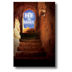 He Is Risen Tomb Postcard