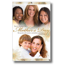Mother's Day Faces Postcard