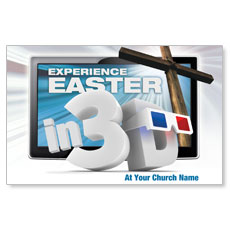 Easter In 3D Postcard