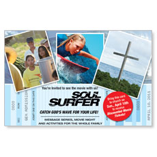 Soul Surfer Ticket Postcard