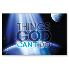God Can't Do Postcard