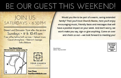 Pastor Invitation Postcard - Church Postcards - Outreach ...