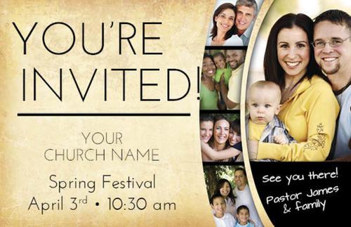 pastor invitation postcard church postcards outreach. Black Bedroom Furniture Sets. Home Design Ideas
