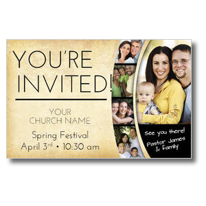 Pastor Invitation Postcards