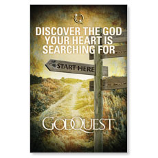 GodQuest Sign Post Postcard